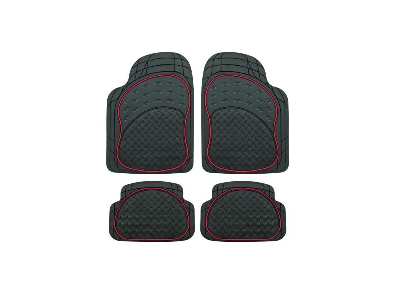 universal gummi fu matten set 4 tlg schwarz rot gummimatte automatte 21 79 tuning4u shop. Black Bedroom Furniture Sets. Home Design Ideas