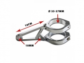 Lampenhalter-Set, CNC Alu-chrom, 35-37 mm, 4 Alu-chrom...