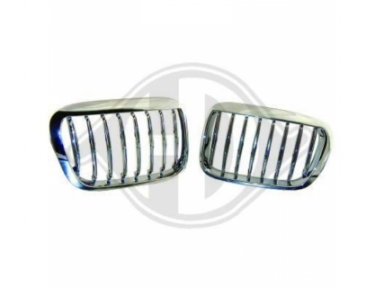 Kühlergrill Designgrill BMW E46 Bj.98-01 Limo Compact chrom Frontgrill Tuning